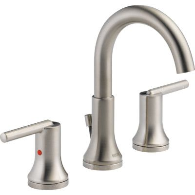 Delta Trinsic Two Handle Widespread Lavatory Faucet with Metal Pop