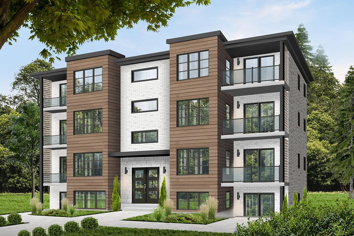 8unit apartment complex with balconies in 2020 family