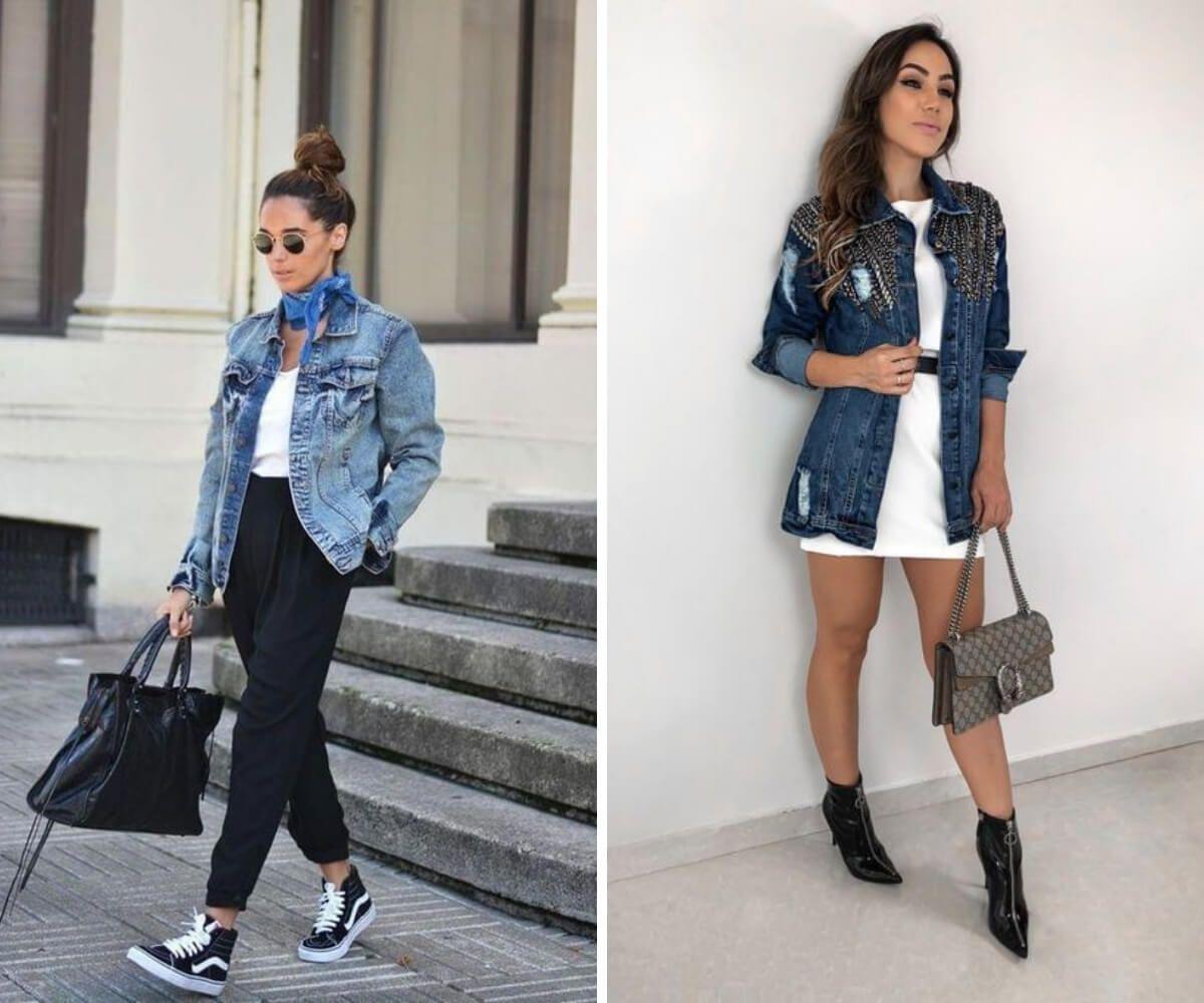 Como usar jaqueta jeans: 7 dicas incríveis | Jaqueta, Jeans