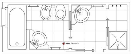 Bagni completi progetti di bagni cad dwg (3) Bagni