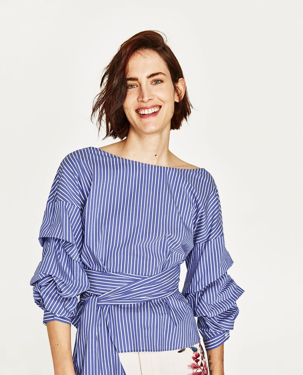 pulcro elige mejor mujer STRIPED BLOUSE-View All-TOPS-WOMAN | ZARA United States ...
