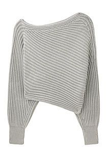 601f57dfe0bbc Alexander Wang- Asymetrical cropped pullover Asymmetrical Sweater