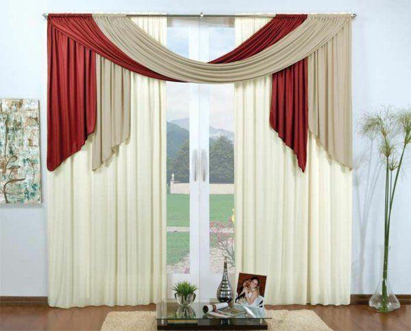 35 rote Gardinen für königliche Eleganz in Ihrem Wohnzimmer - gardinen fürs wohnzimmer