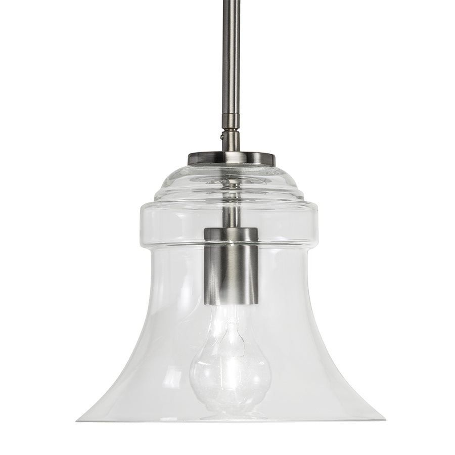 Westwood Collection 8.63-in Brushed Nickel Standard Mini Pendant ...
