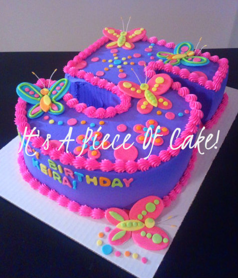 Cake 5 Butterflies Https Www Facebook Com Itsapieceofcakewv 6th Birthday Cakes Butterfly Birthday Cakes 5th Birthday Cake