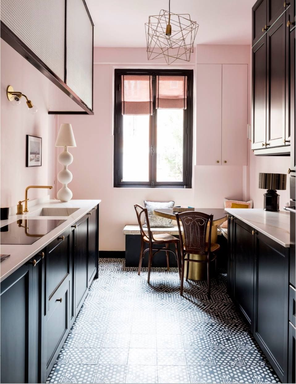Pin by Kasia Cerazy on Black Pink kitchen walls, Grey