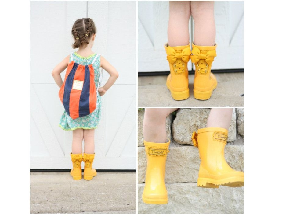 Girl - Fashion - Child - Kids - Gumboots - Rain Boots - Shoes ...