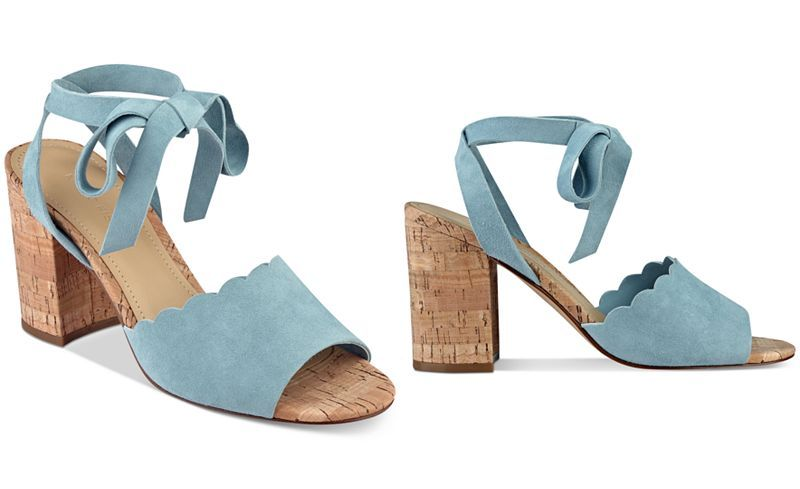 56063ed3264 Marc Fisher Piya Lace-Up Cork Block-Heel Sandals - Sandals - Shoes - Macy s