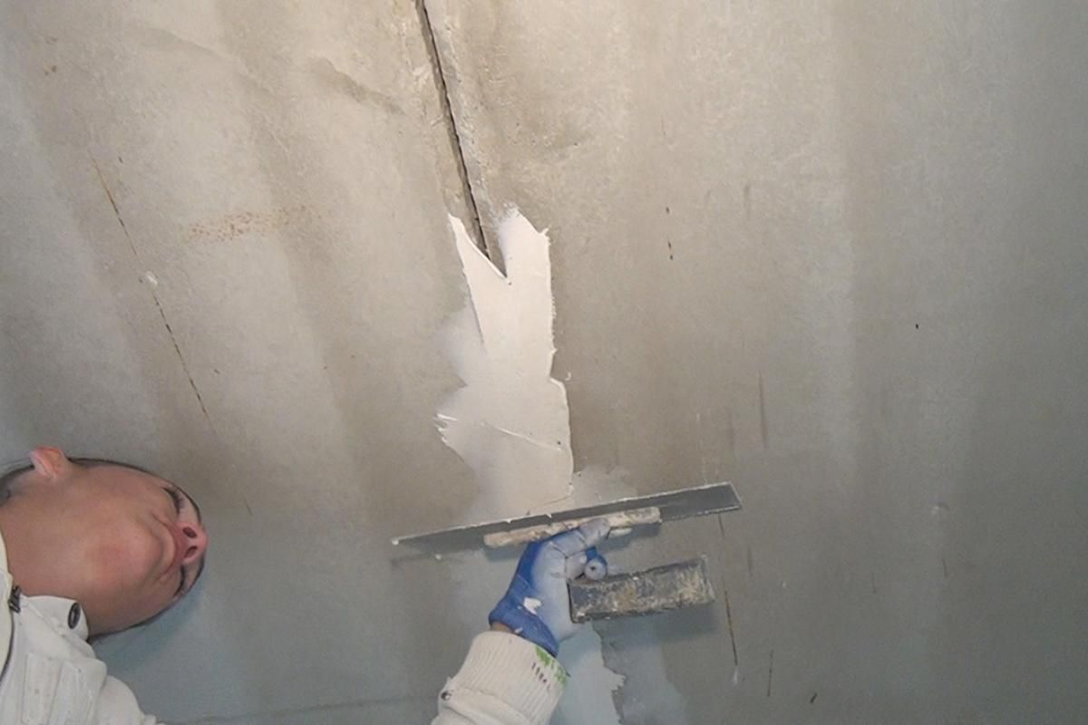 Betondecke Spachteln Betondecke Malerarbeiten Und Anleitungen
