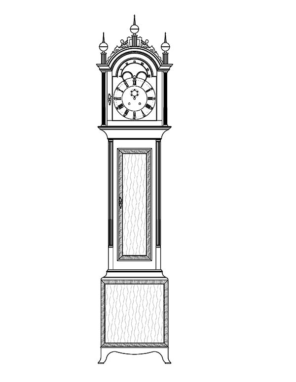 Tall Case Grandfather Clock Coloring Pages Color Luna Grandfather Clock Tattoo Grandfather Tattoo Grandfather Clock