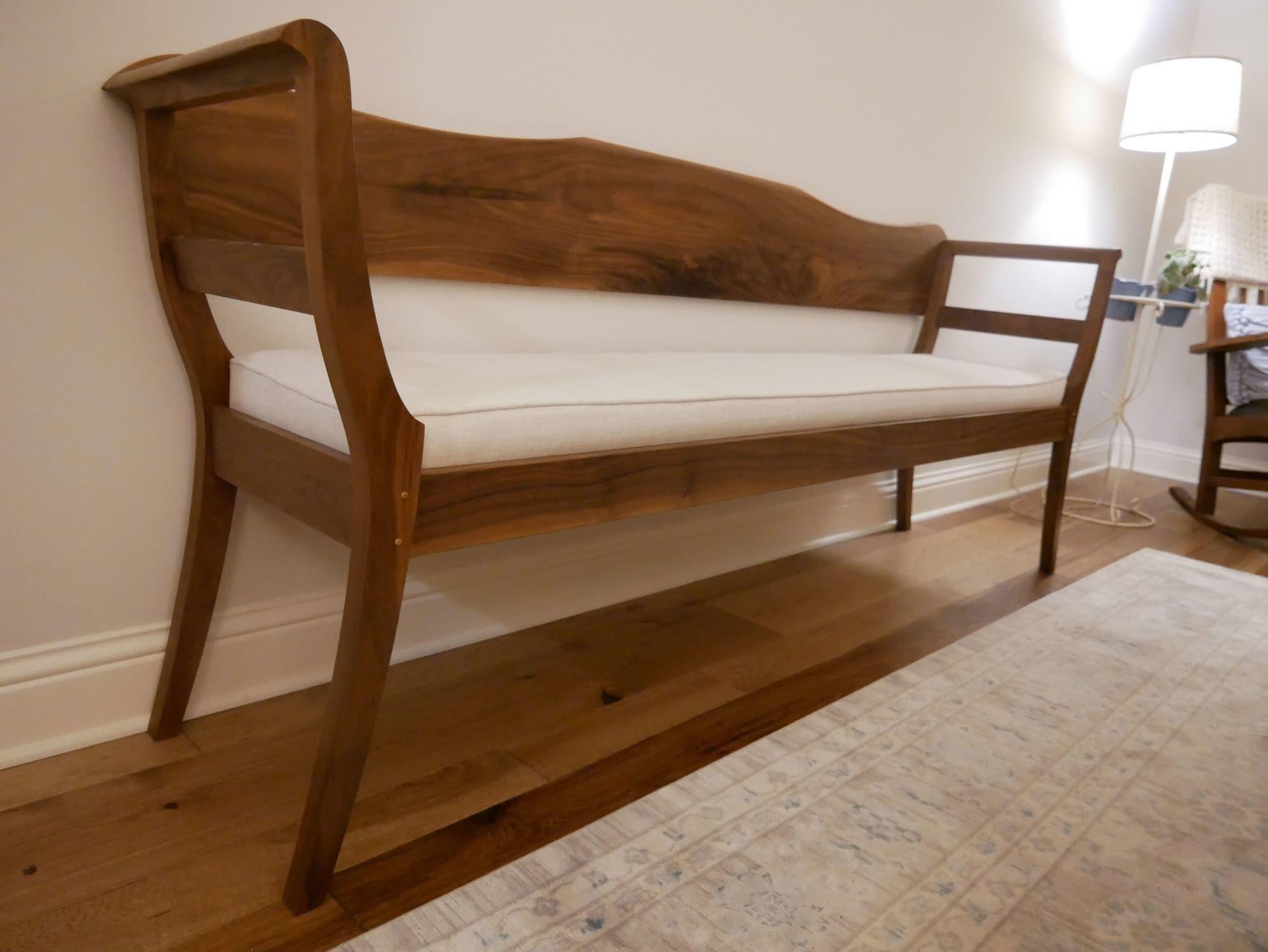 Andy Rawls Fine Texas Woodcraft Brenham Settee As Seen In Boerne