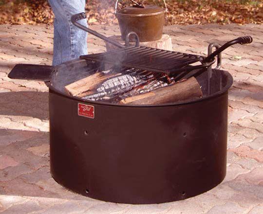 Campfire Cooksite Firering Grill Pilot Rock Fire Pit Fire Ring
