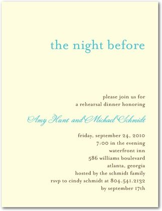 Welcome Dinner Invitation