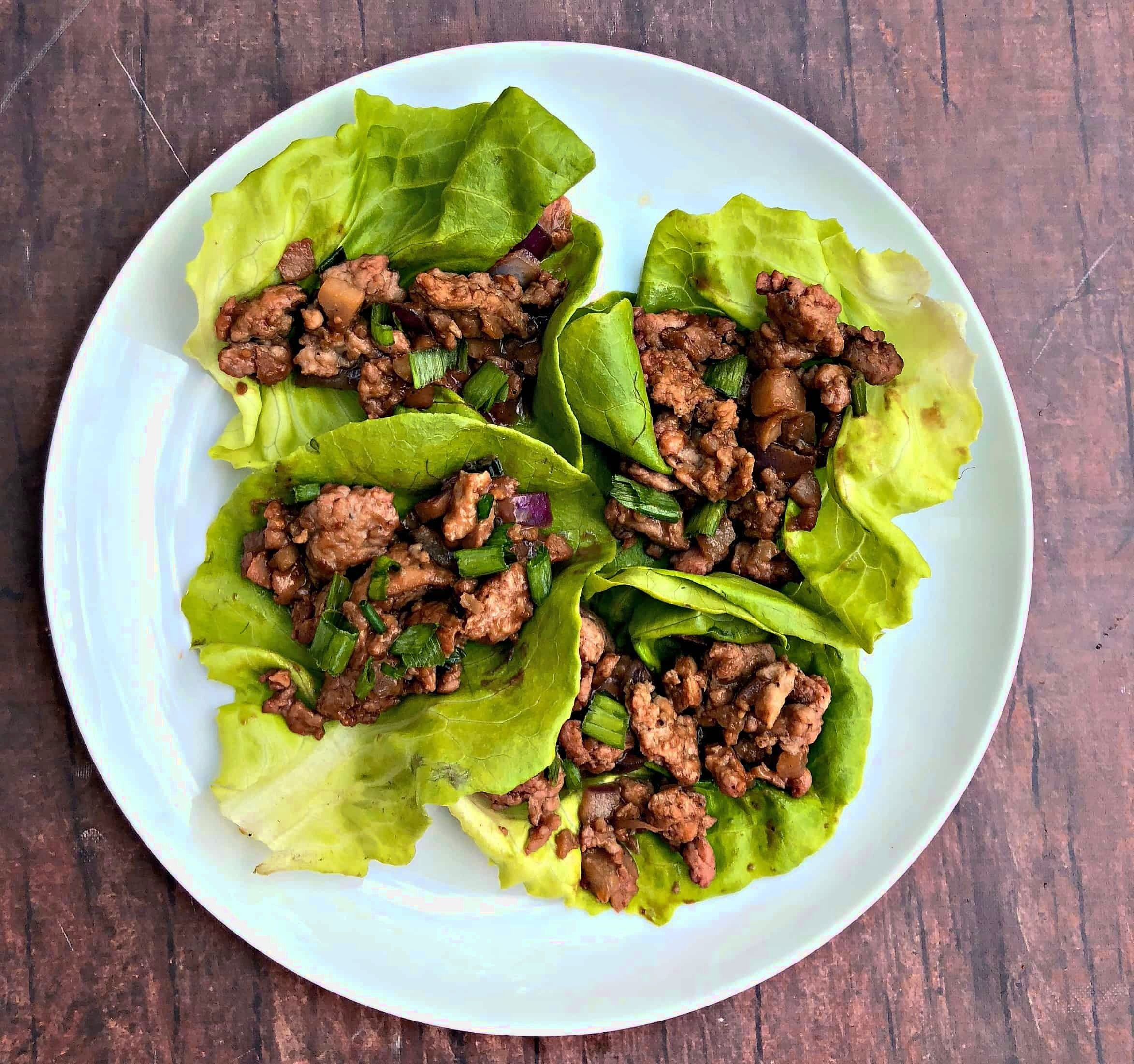 Easy keto lowcarb pf changs chicken lettuce wraps with