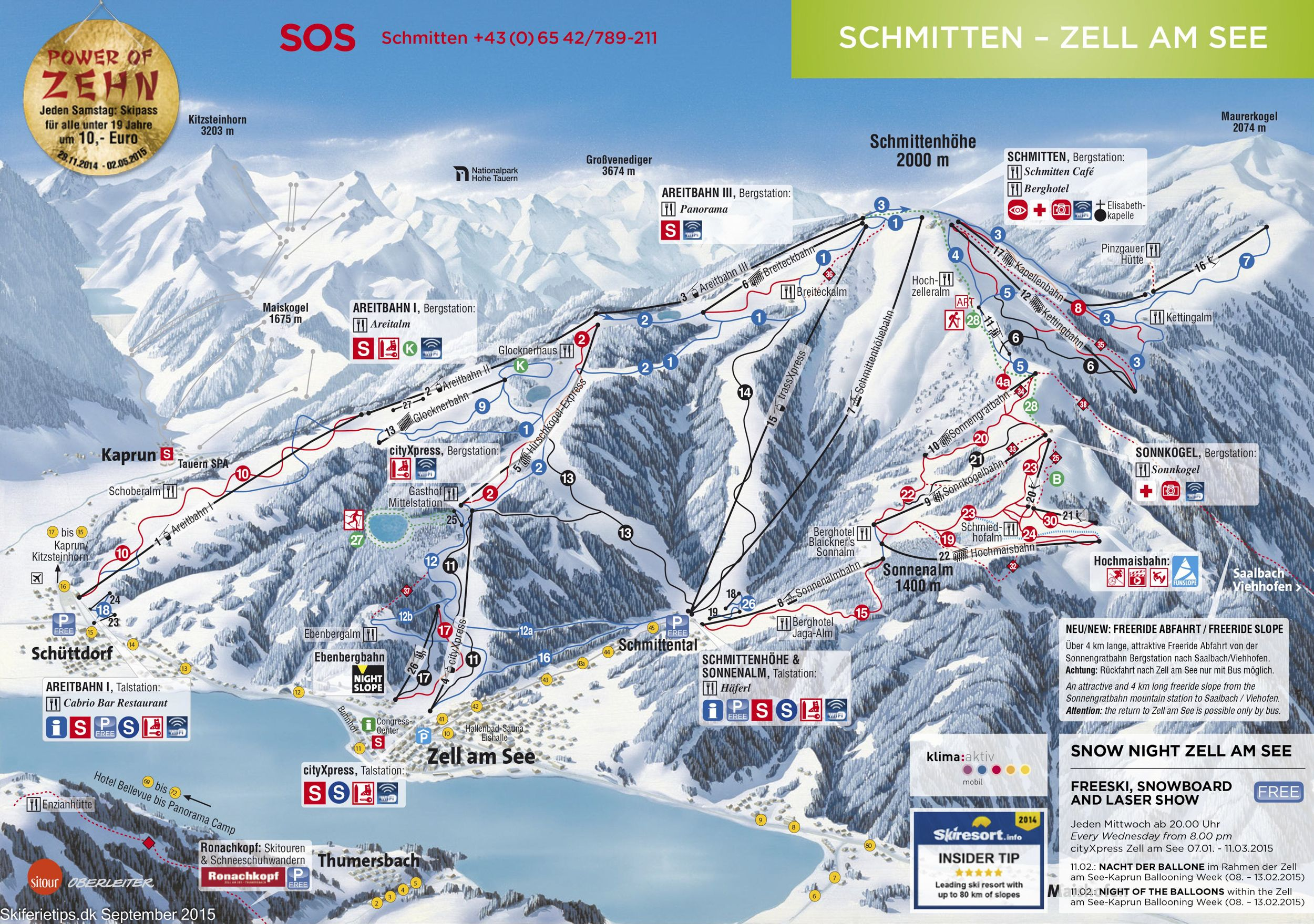 Zell am See Austria Piste Map