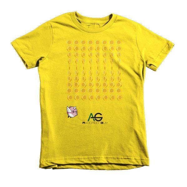 Avocado Guy Bird Dash (Coin) Short sleeve kids t-shirt