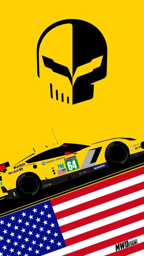 Badboyvettes Iphone Wallpaper Of The Gte Pro Winner Thanks To Mwoodski Lm24 Lemans Imsa Corvette