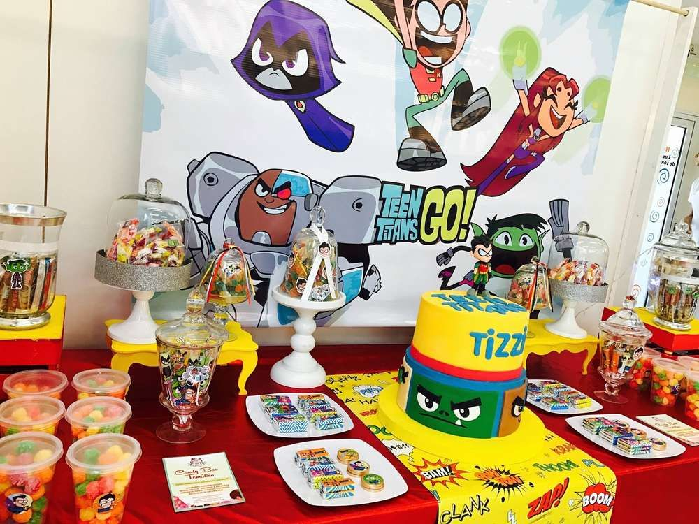 Teens Titans Go Birthday Party Ideas  Teen Titans  Teen -8857