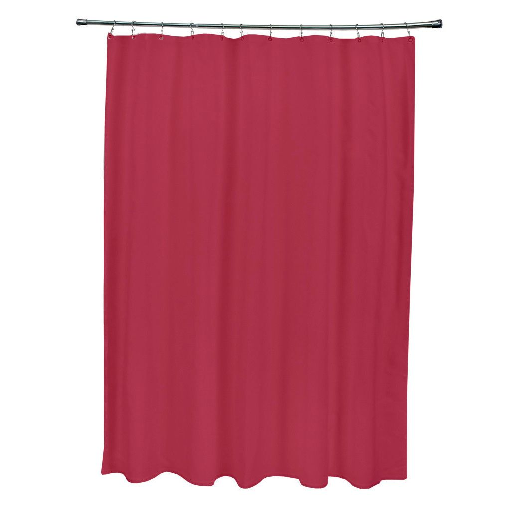 Brighten your bathroom with this solid red shower curtain, which ...
