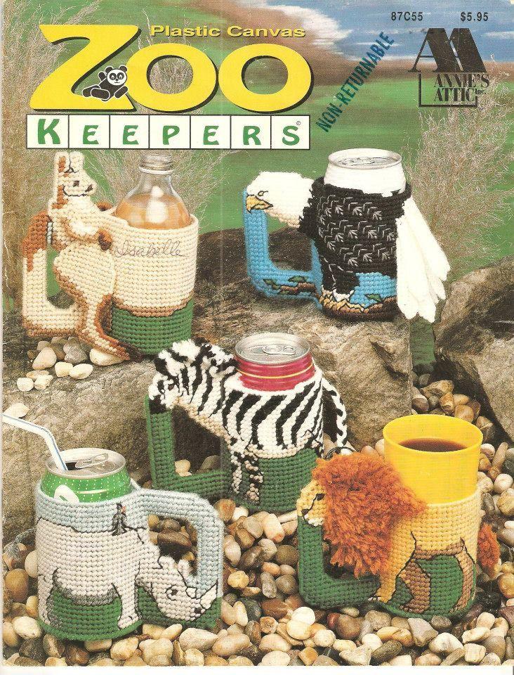Plastic Canvas Zoo Keepers Vintage Plastic Canvas Booklet