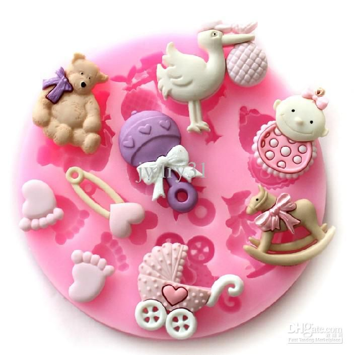 8.3x1.1cm Mini Baby Doll Theme Food Grade Silicone Mold Chocolate Cake  Decorating Heat Safe Mould For Polymer Clay Crafts From Jwlry31, $5.82 |  Dhgate.Com