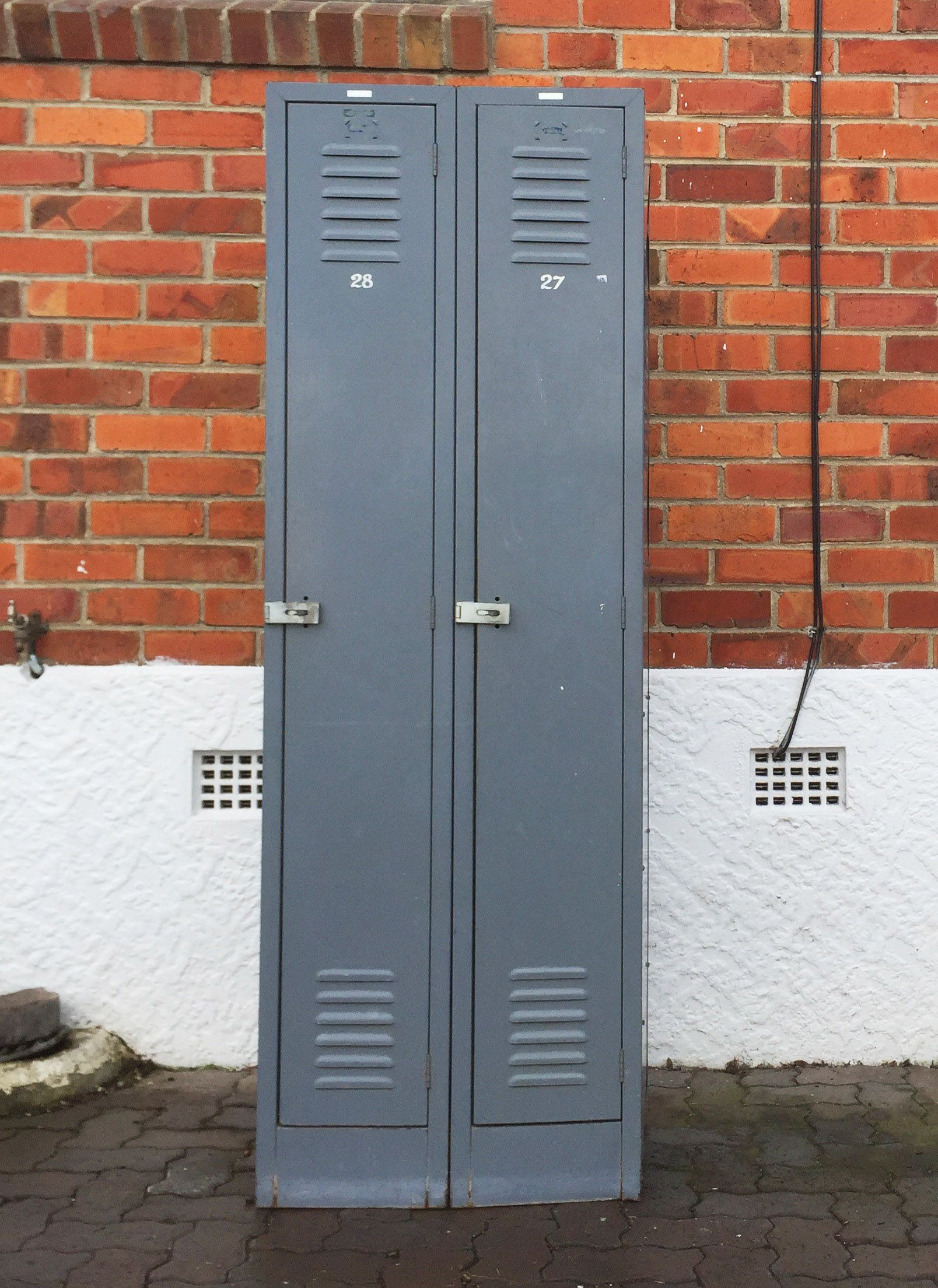 Metal lockers. #placesandgraces #collection #grey #school #lockers #metal