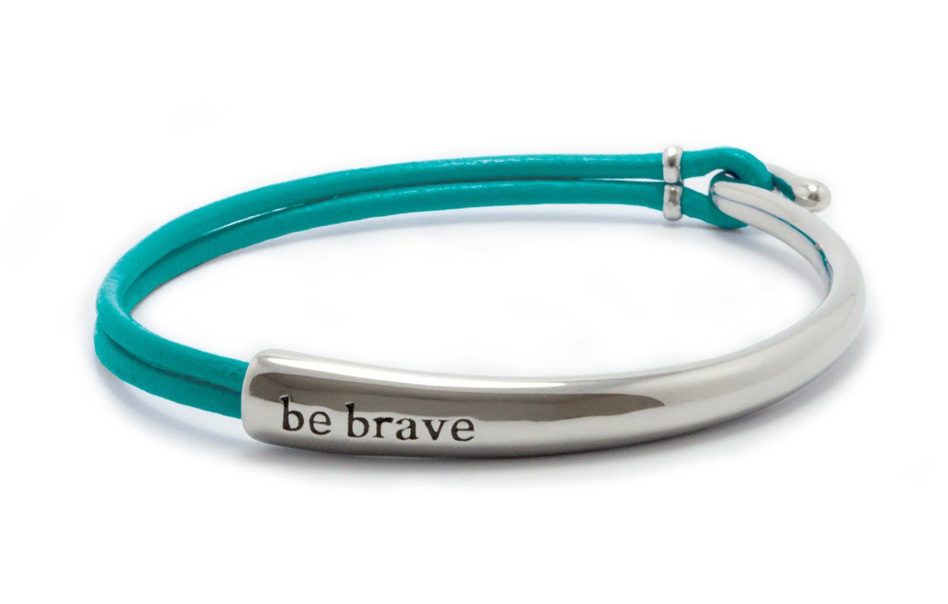 Jewelry By Style Original Leather Bracelet Teal