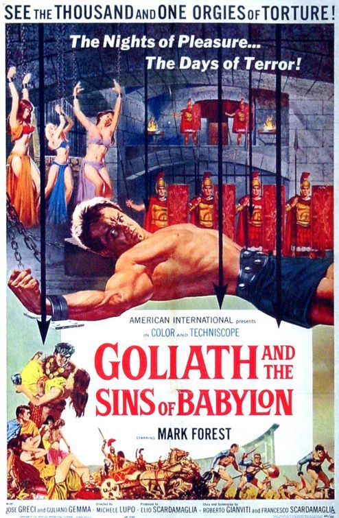 Goliath And The Sins Of Babylon 1963 Movie Posters Babylon