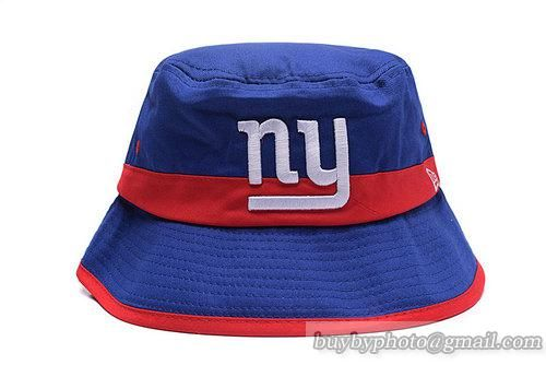 NFL New York Giants Bucket Hats Blue Red-Stripe  e0fa11ca226