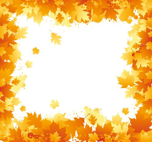 colorful borders and frames autumn elements of frames vector 01