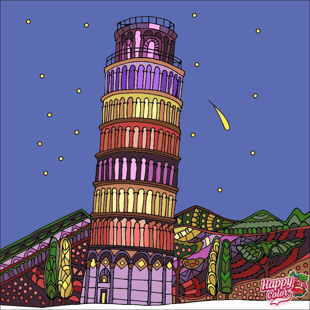 Pin By Patty Hager On Coloring Tower Leaning Tower Of Pisa Pisa