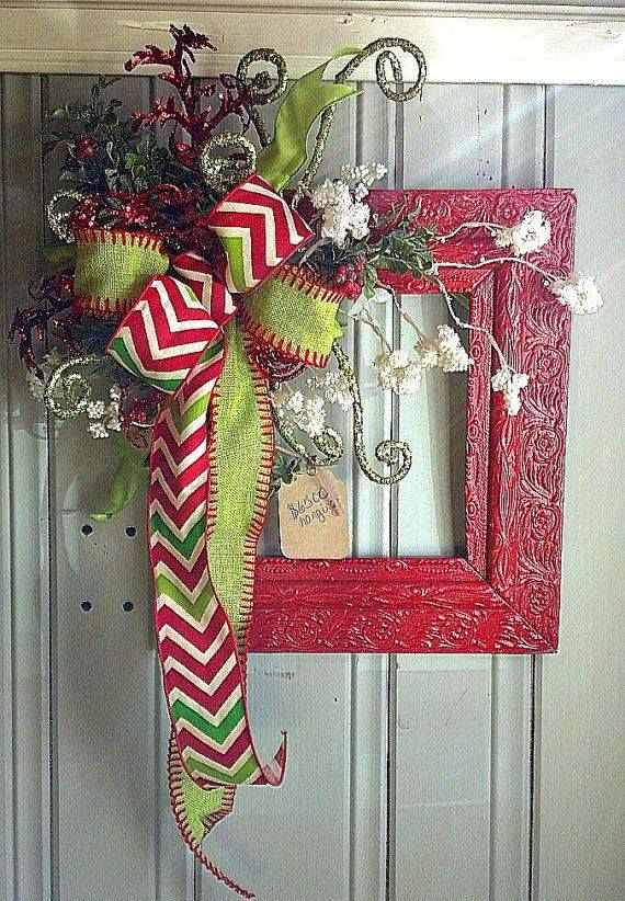 Who says you have to make a round wreath? Spray paint a reclaimed ...