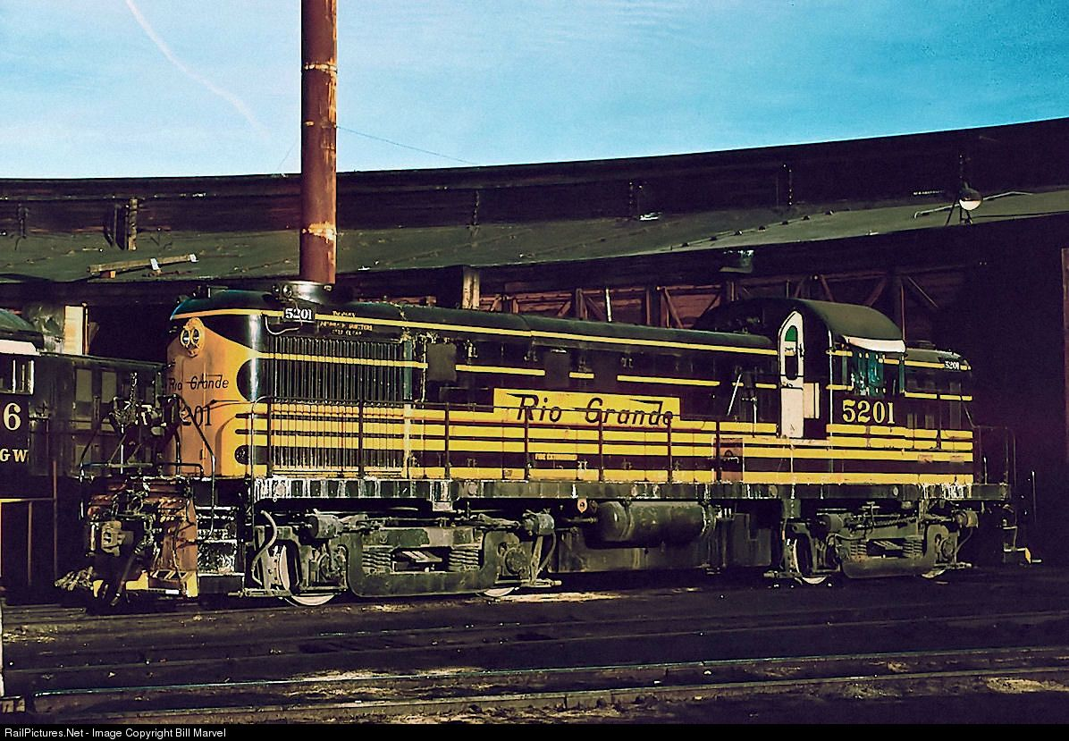 RailPictures.Net Photo: 5201 Denver & Rio Grande Western Railroad Alco RS-3 at Denver, Colorado by Bill Marvel