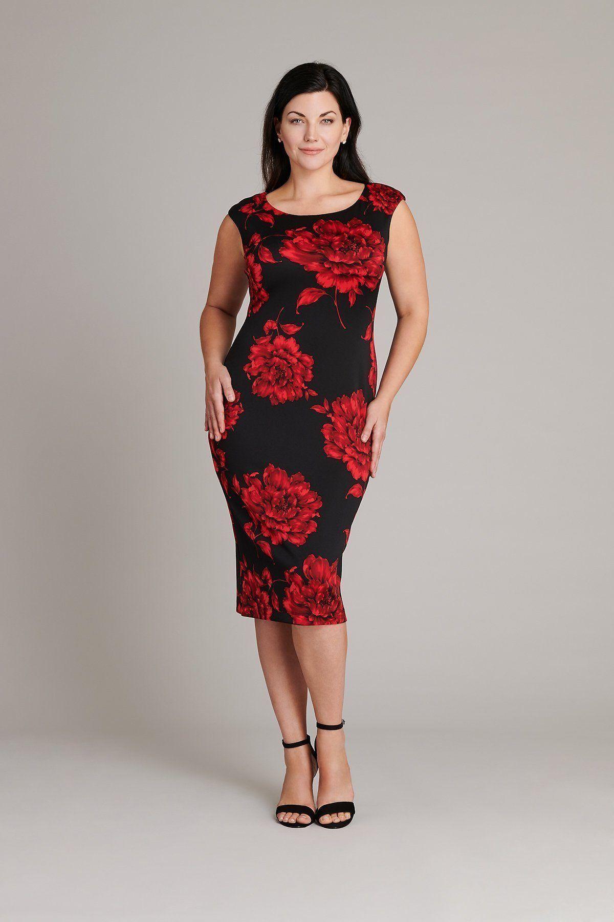 d659a11db5 The Billie Red Floral Print Midi Dress in 2019
