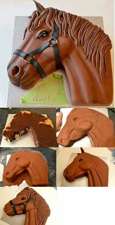 Horse cake The raised area around eyes nose would look better