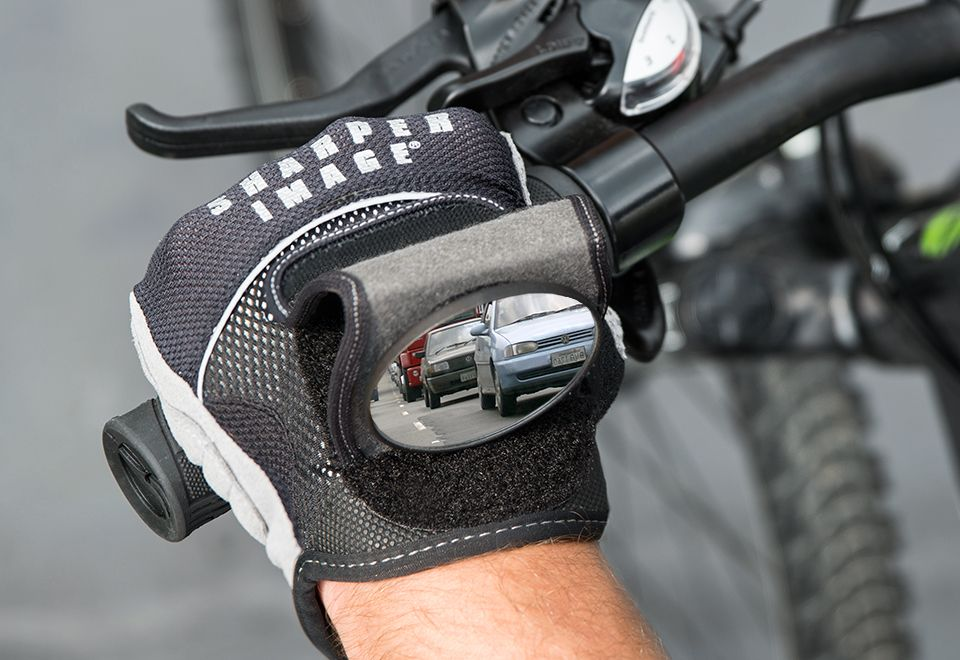 Rearview Mirror Cycling Gloves Sharper Image With Images