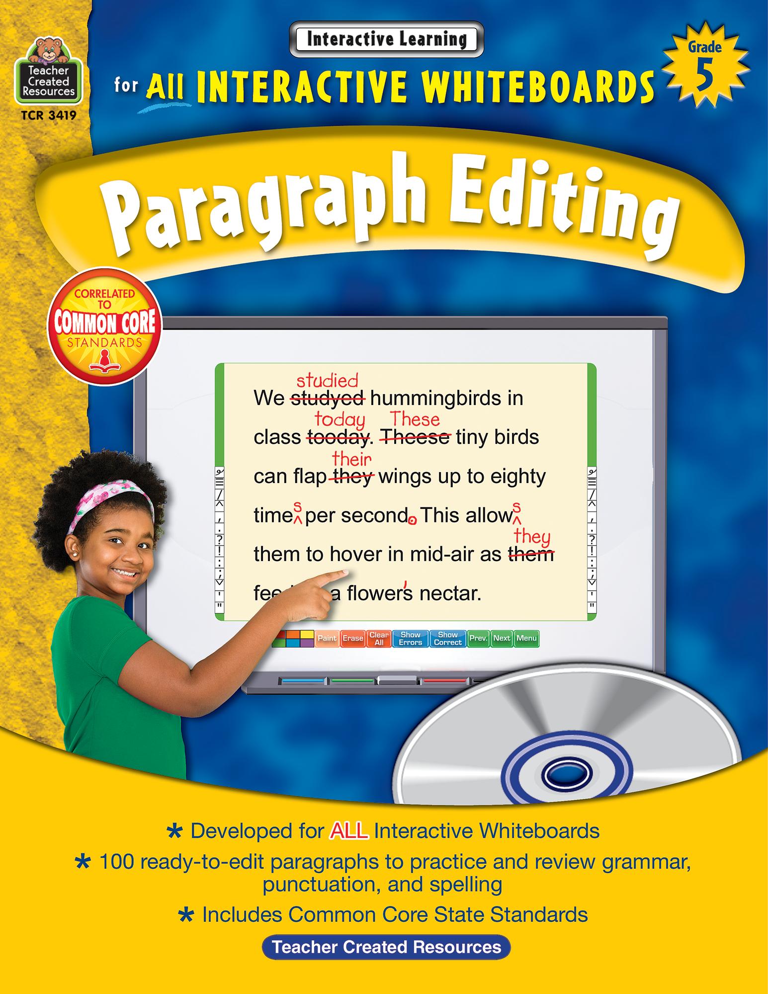 Interactive Learning Paragraph Editing Grade 5