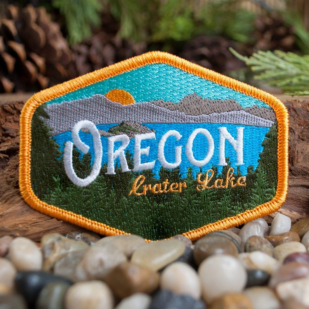 Oregon Crater Lake Vintage Embroidered Patch (With
