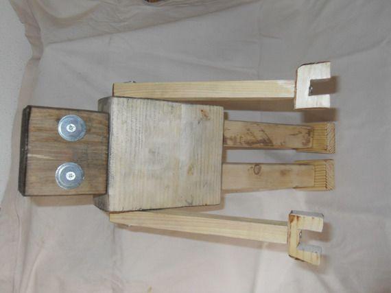 Robot en bois de palette - Objet de décoration