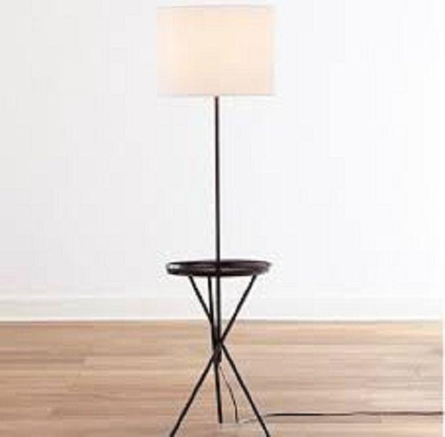 Bronze Tray Table Floor Lam   Lamp Design Ideas