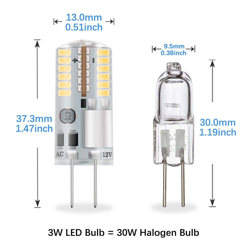 Dicuno G4 3w Bi Pin Led Bulb 30w T3 Halogen Bulb Equivalent Ac