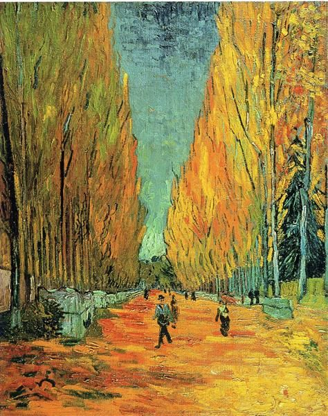 Alychamps, 1888 by Vincent van Gogh. Post-Impressionism. landscape. Private…