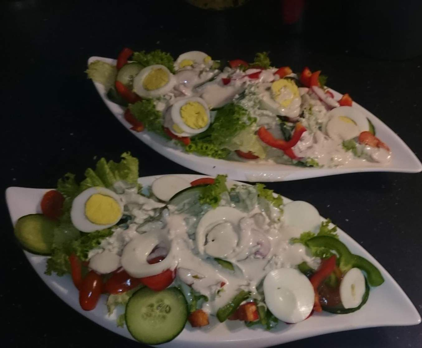 Weiße Salatsoße - Wie beim Italiener | Rezept