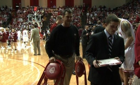 Jim Harbaugh, 2011 NFL Coach of the Year and IU Basketball team manager