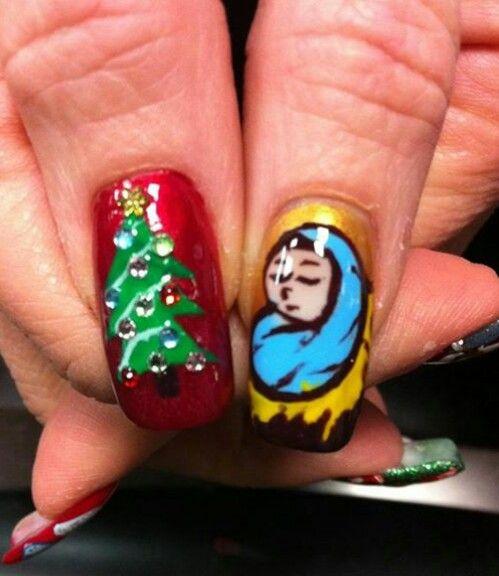 Christmas Nail Art Idea Glam Nails Holiday Nails Christmas Nail Art