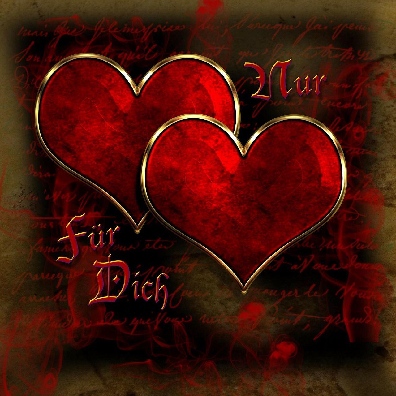 Kostenloses Bild auf Pixabay - Herzen, Herz, Liebe, Gruß