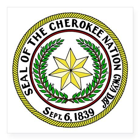 Seal of Cherokee Nation Square Sticker 3″ x 3″ Great Seal of the Cherokee Nation Square Sticker 3 by gazebogifts