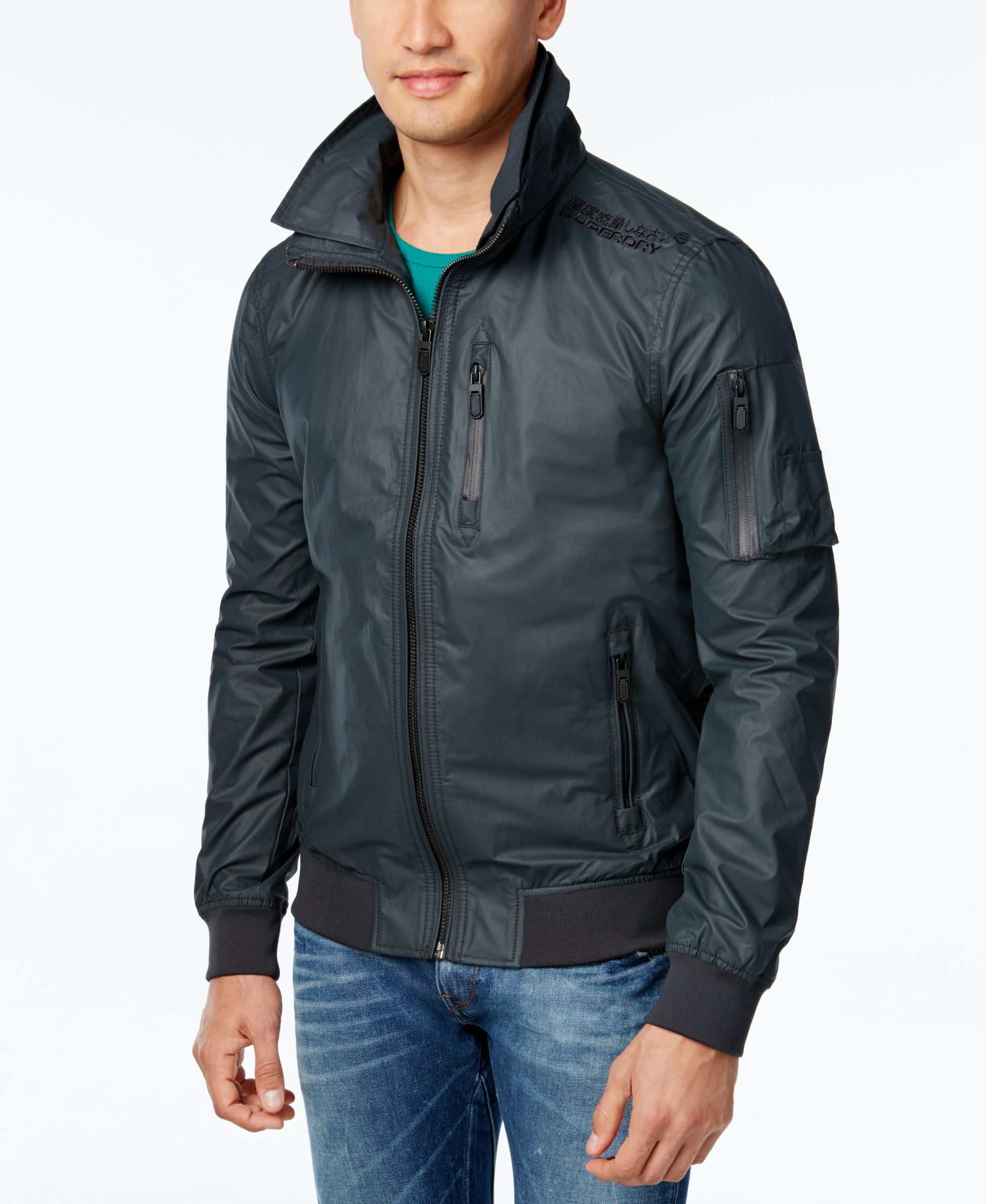 Superdry Mens Moody Light Bomber Jacket