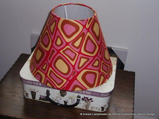 Pink Red Yellow & Brown Handmade Ankara / by AnkaraLampshades, £25.00
