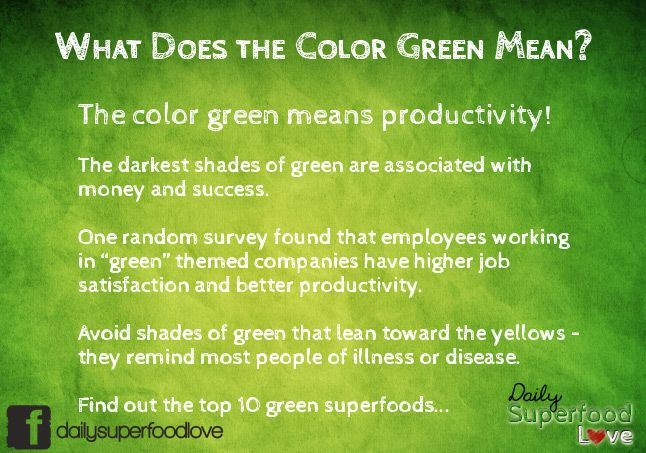 What Does the Color Green Mean & Top Green Superfoods